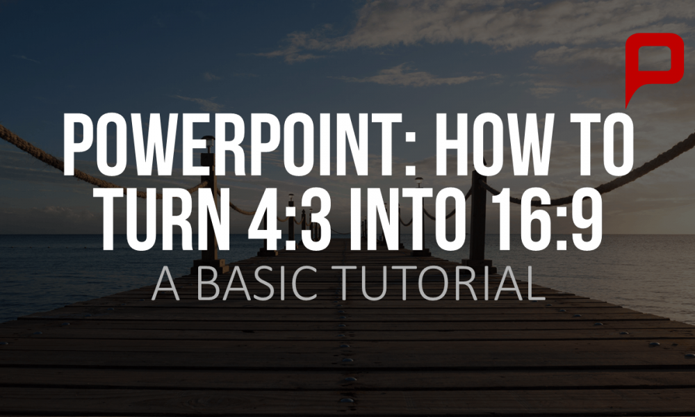 adjusting the page format in powerpoint to a 16 9 screen