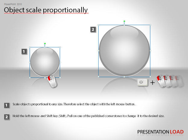 Object scale proportionally in PowerPoint