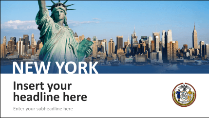 Powerpoint city templates visualize your trips impressively city template powerpoint new york toneelgroepblik Image collections