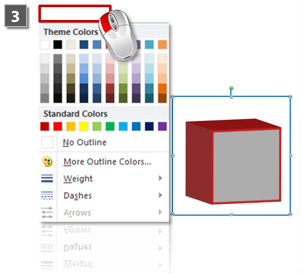 How to add outlines to §d objects (step 3)