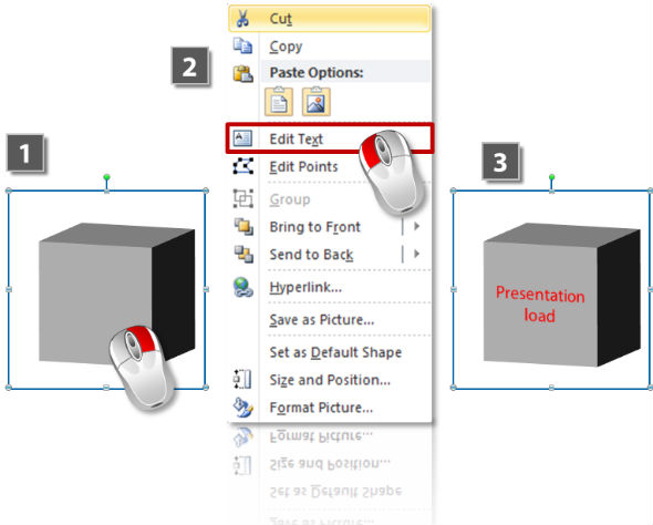 How to add text to 3D objects