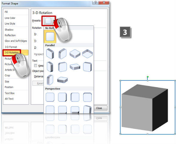 How to rotate 3D objects (step 3)