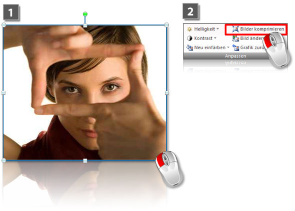 How to compress images in PowerPoint (step 1)