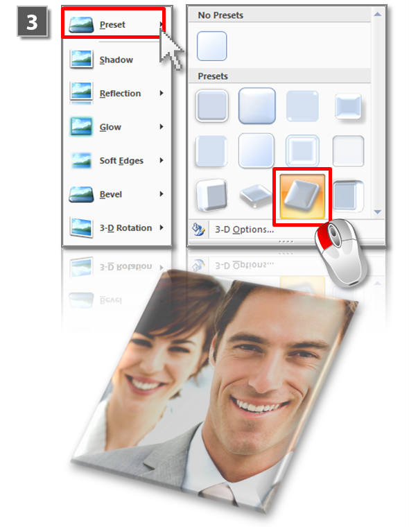 PowerPoint 3D effects for images (step 3)