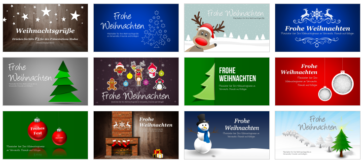 PowerPoint Christmas Templates