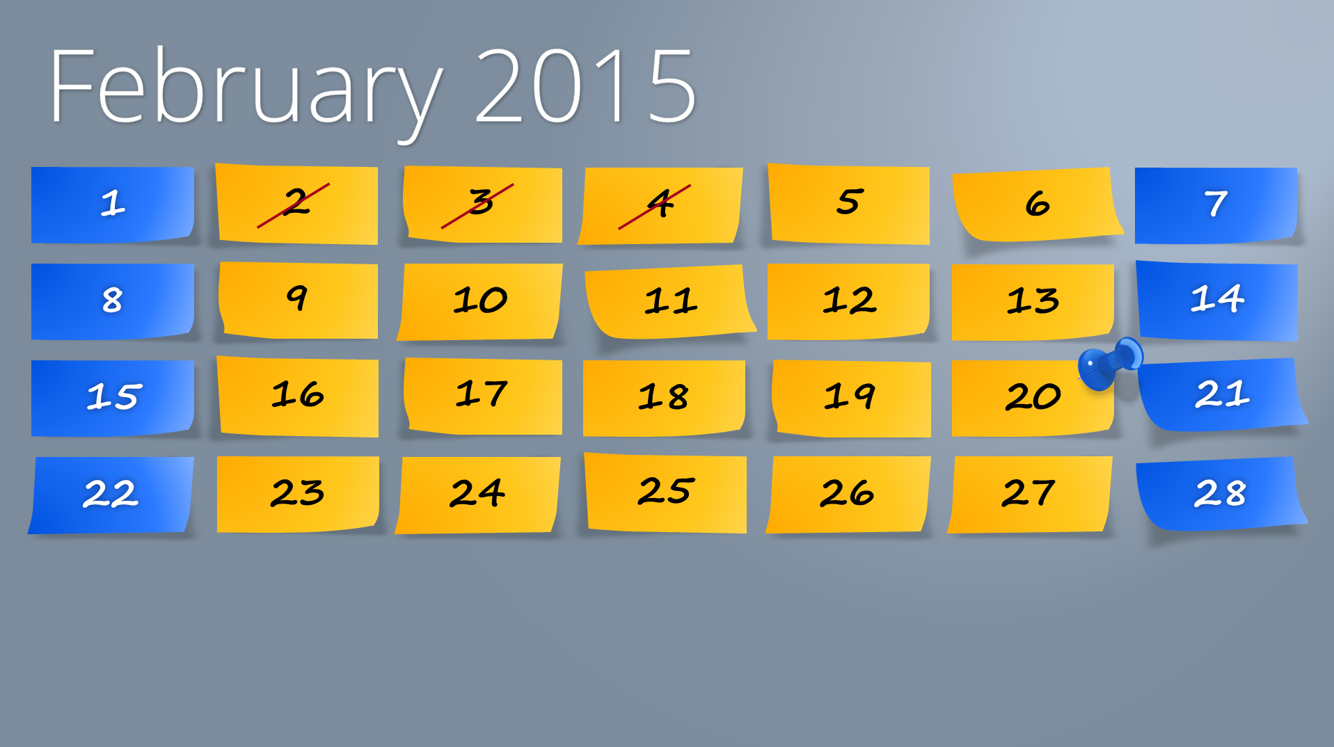 2015 calendar for powerpoint