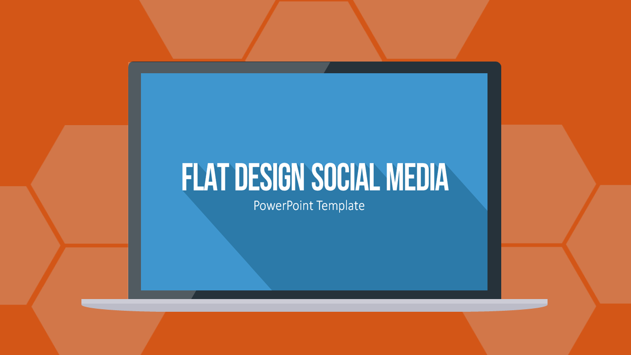 an aesthetic presentation of social media content, Powerpoint templates