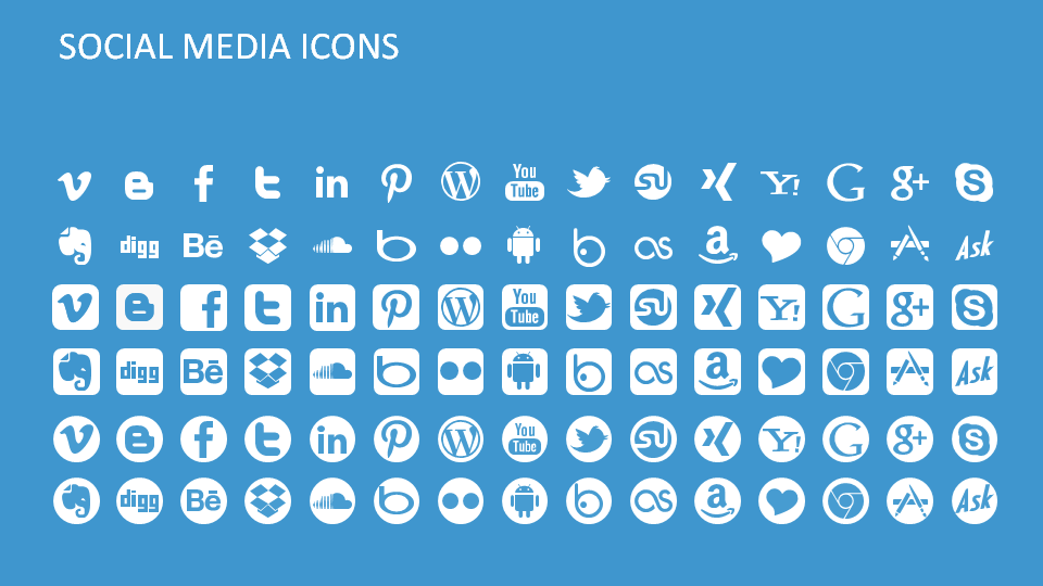 Social Media Icons for PowerPoint