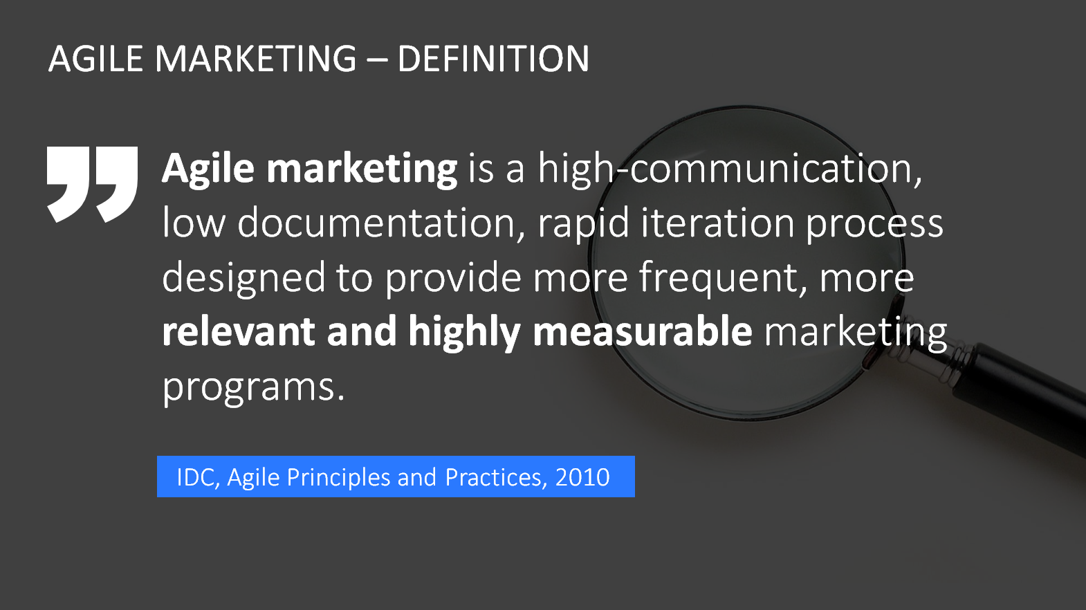 powerpoint agile marketing definition