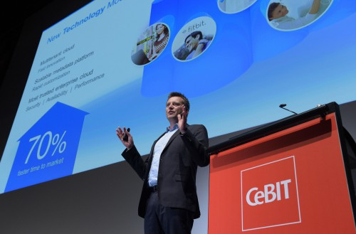 CeBIT Preview, 20. Januar 2016: Pressekonferenz mit Salesforce: Marc Hoenke, Director Brand Communications