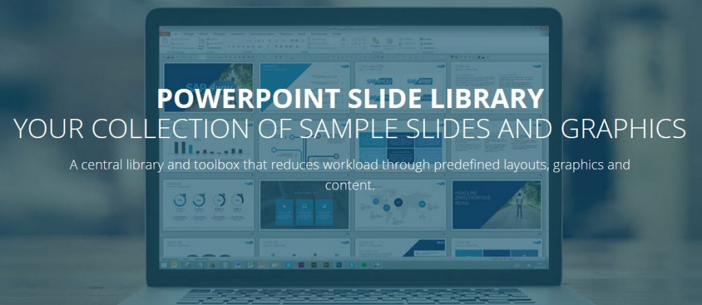 Slide library as solution for corporate design